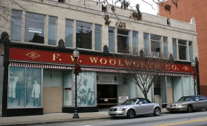 Site of Woolworth store in Greensboro, NC, where the 1960 lunch counter sit-ins took place